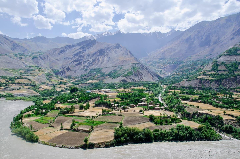 Podișul Pamir, la granița cu Tadjikistan