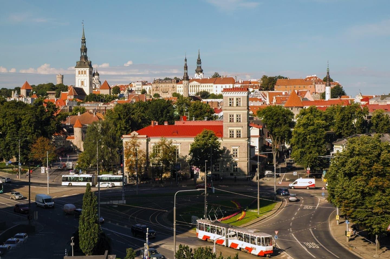 Centrul orașului Tallinn, Estonia