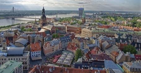 Capitala Riga și fluviul Daugava