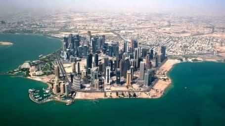 Panoramă aeriană Doha