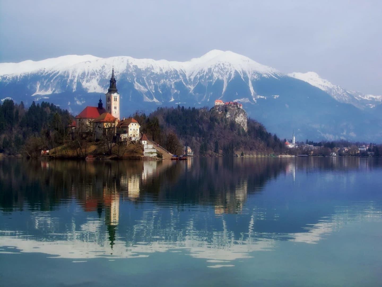 Insula de pe lacul Bled
