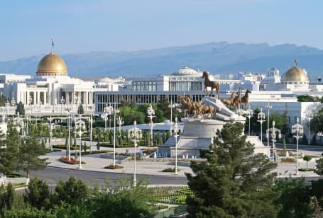 Centrul capitalei Așgabat