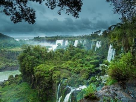 Panoramă Iguaçu din partea braziliană