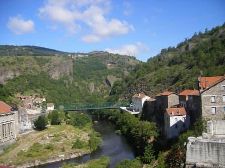 Cheile Allier în Monistrol-d'Allier