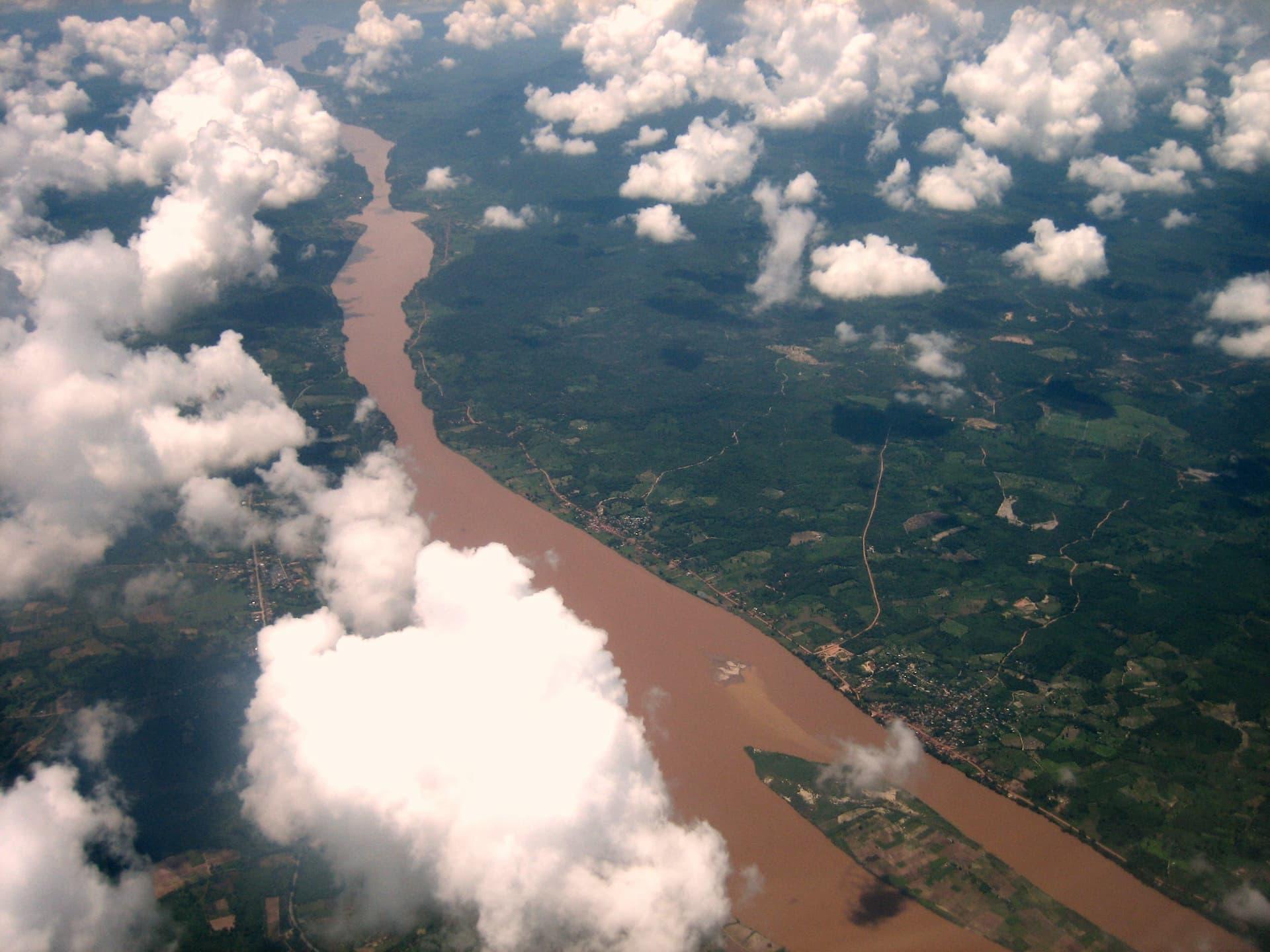 Mekong - locul 3 cele mai lungi fluvii din Asia