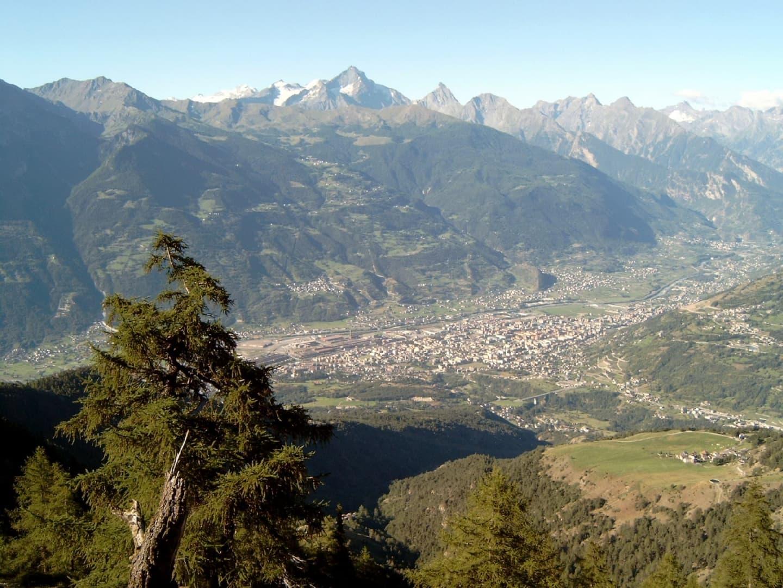 Panorama orașului Aosta