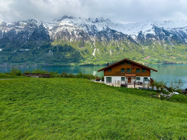 Peisaj bucolic în Isetwald, zona Interlaken