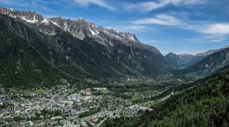 Panorama Văii Chamonix