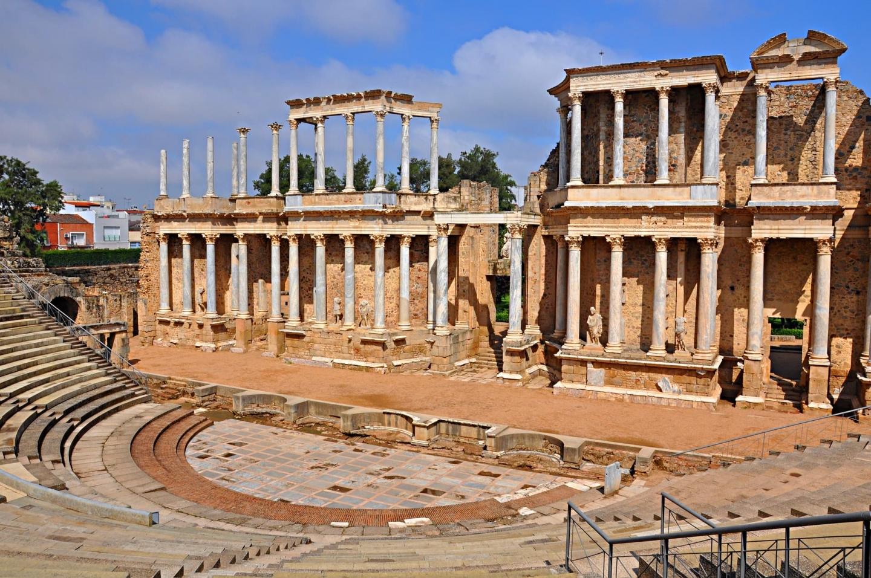 Ruinele amfiteatrului roman din Mérida