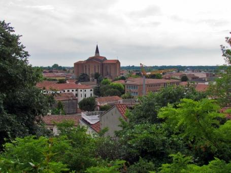 Panoramă Monselice, cu domul pe fondal