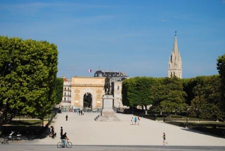 Porte du Peyrou, arcul triumfal din Montpellier