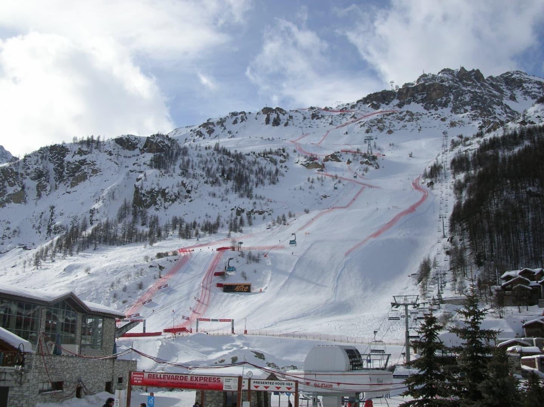 Pârtia de schi din Val d'Isère