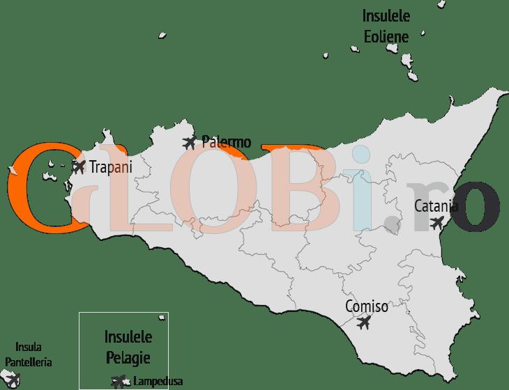Hartă aeroporturi Sicilia
