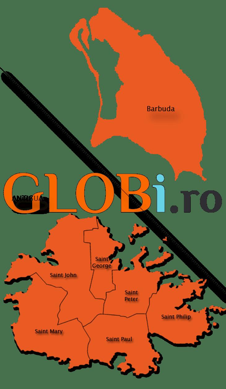 Hartă Antigua și Barbuda