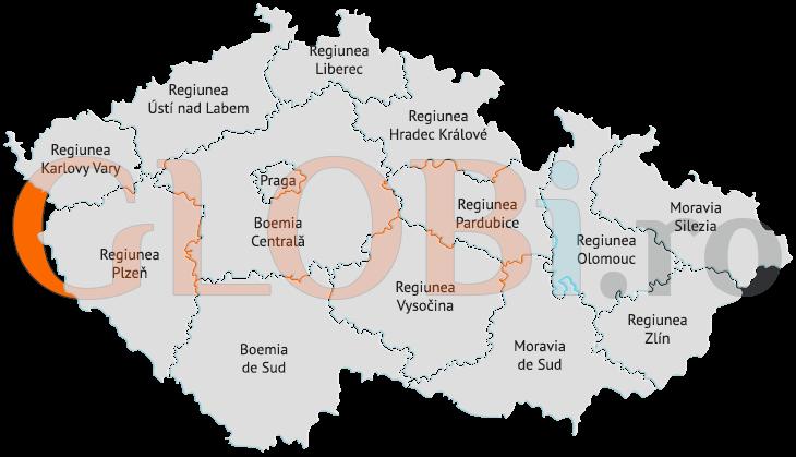 Hartă online regiuni Cehia