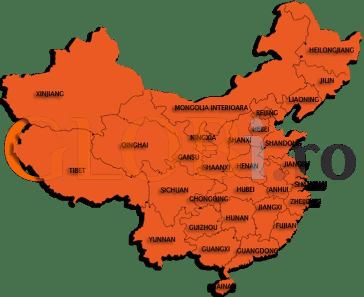 Hartă regiuni China