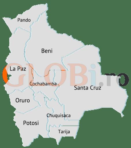 Hartă online a departamentelor Boliviei