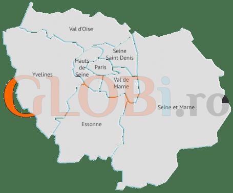 Hartă online departamente Île de France