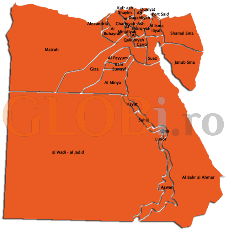 Hartă online Egipt