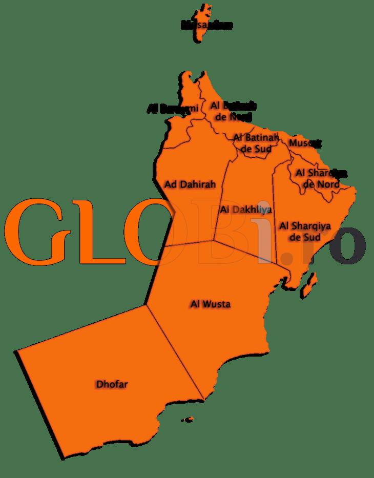 Hartă online Oman