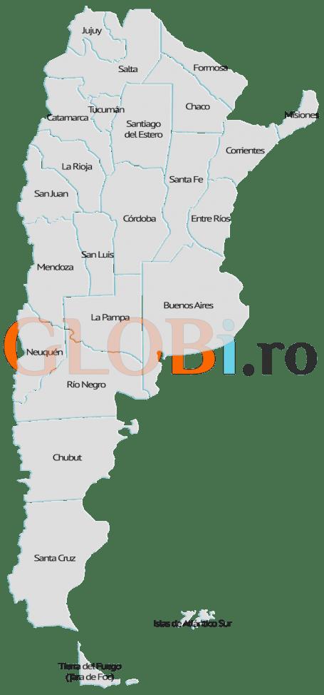 Hartă online a provinciilor Argentinei