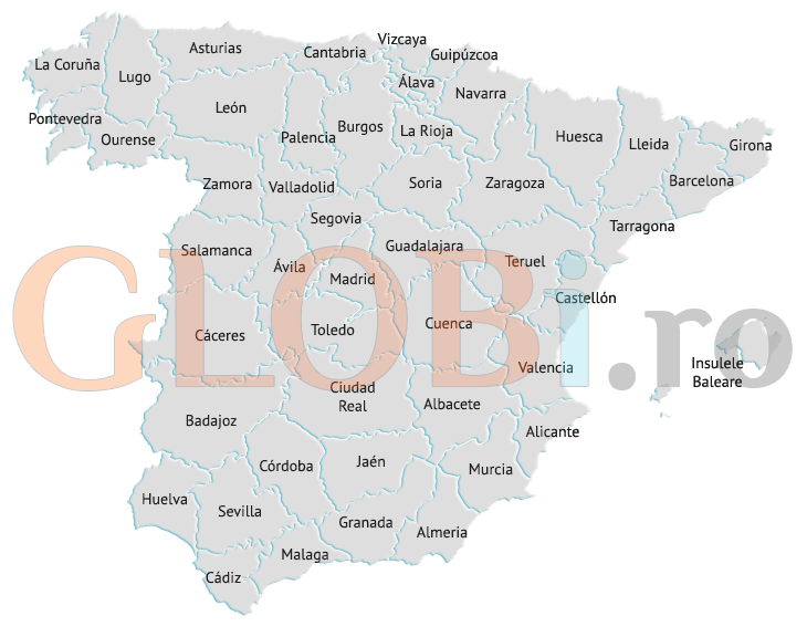 Harta online a provinciilor Spaniei