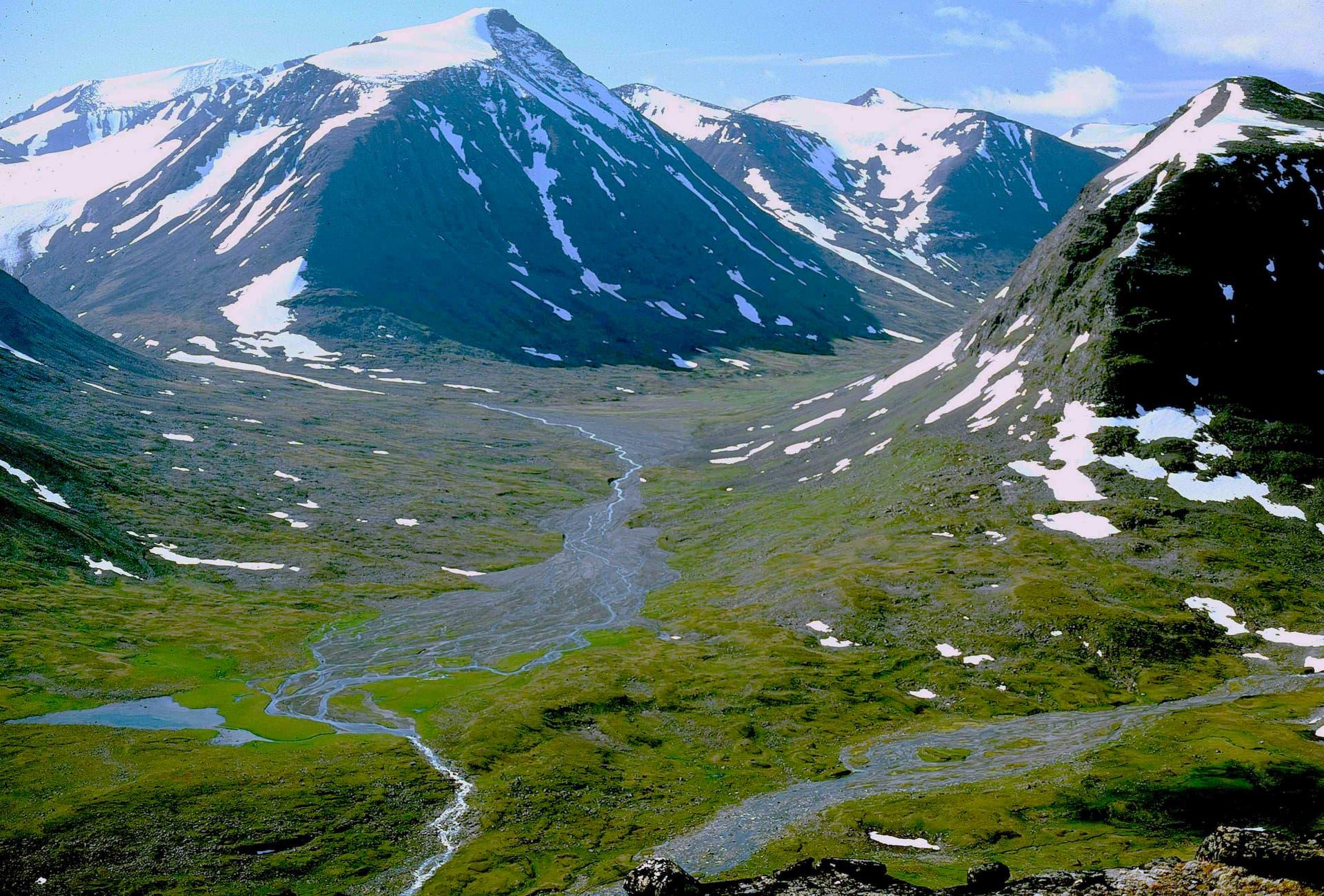 Alkavagge în Parcul Național Sarek, Suedia