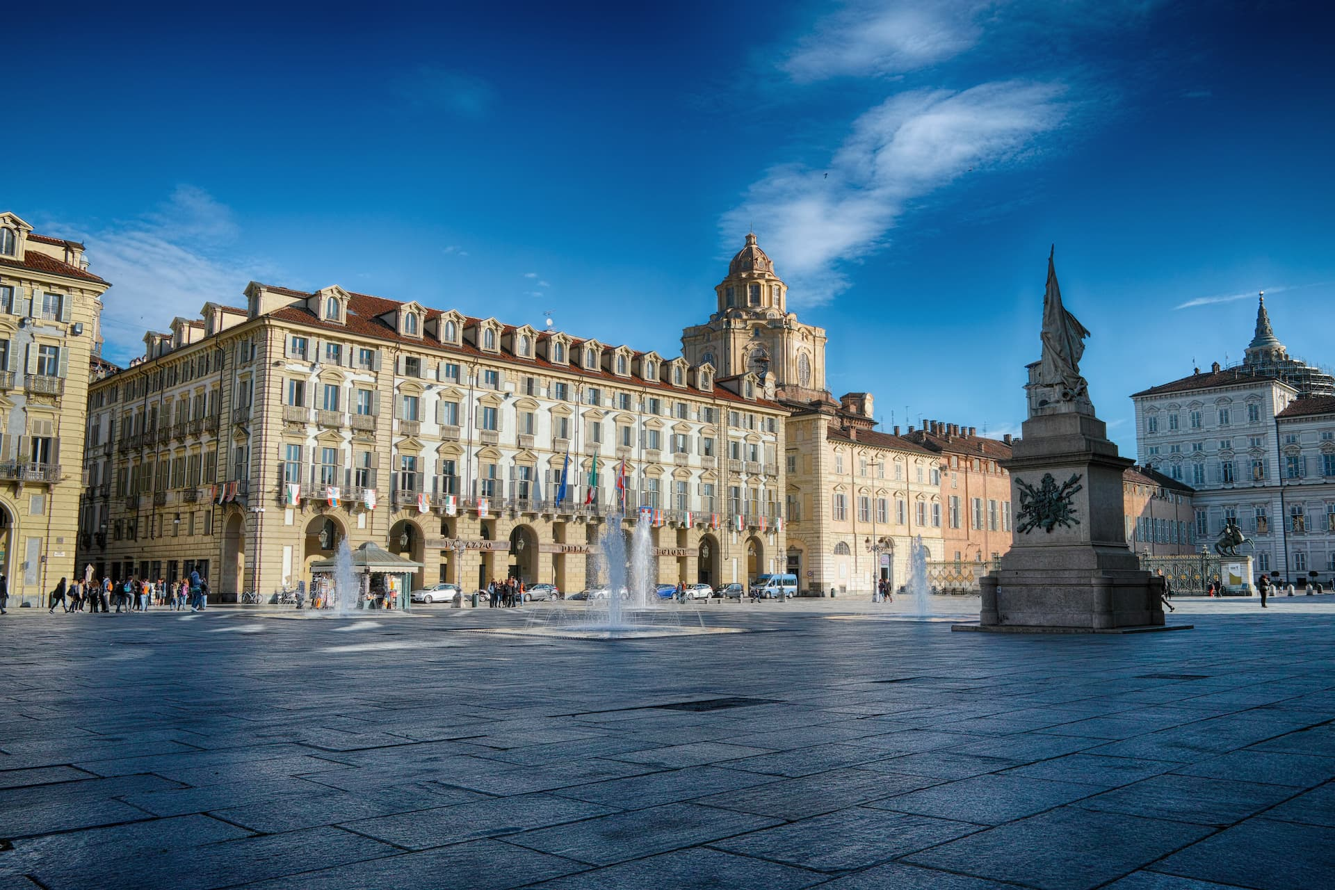 Piazza Castello și Palazzo della Regione din Torino, Italia