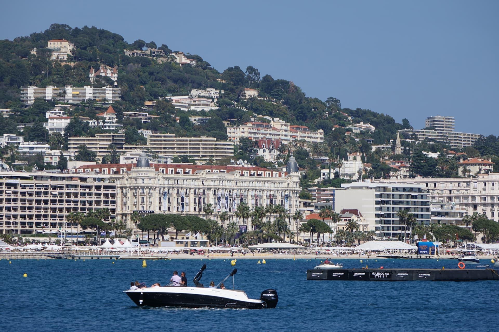 Portul și promenada din Cannes