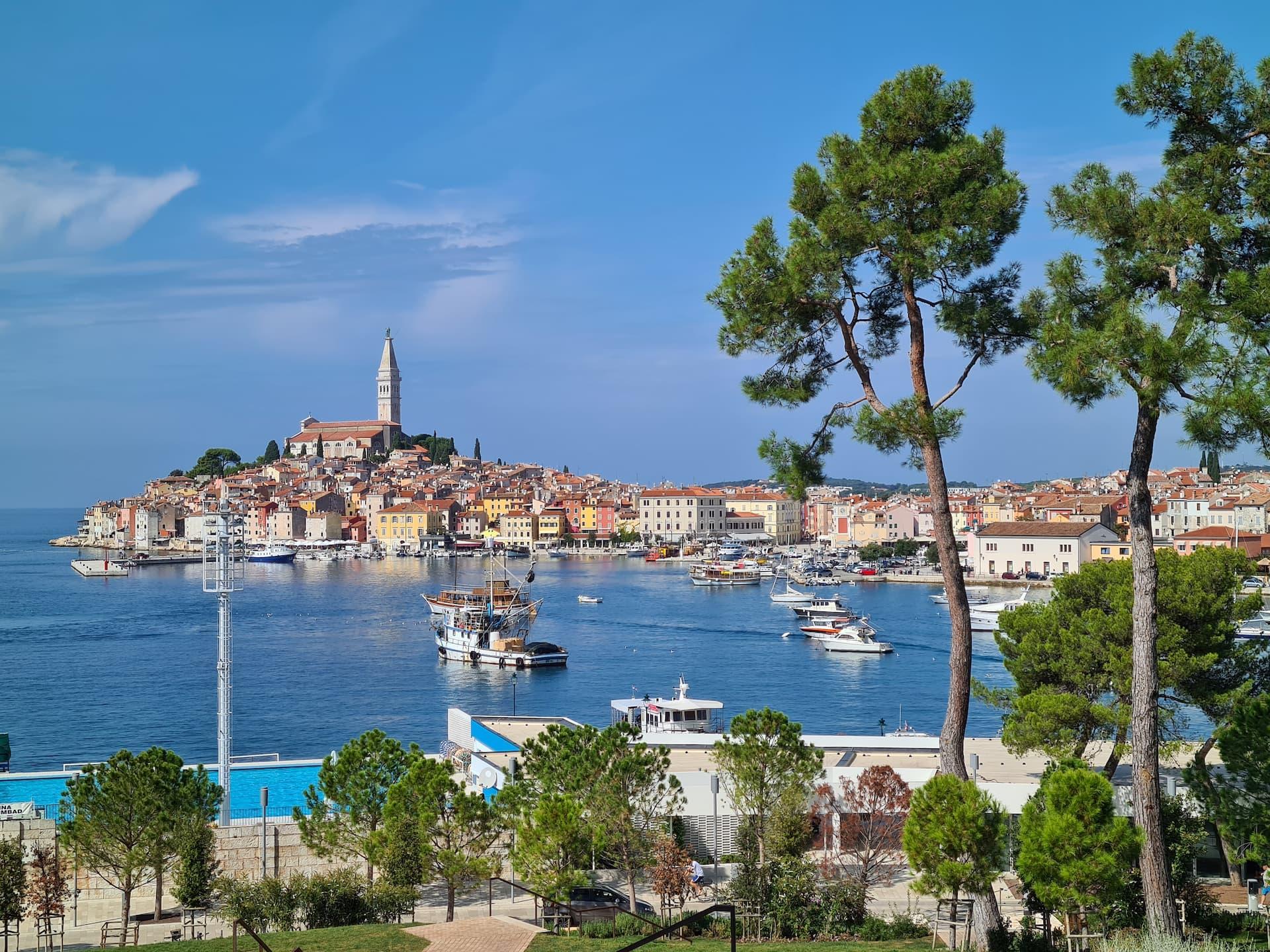 Rovinj, capătul vestic al Peninsulei Istria