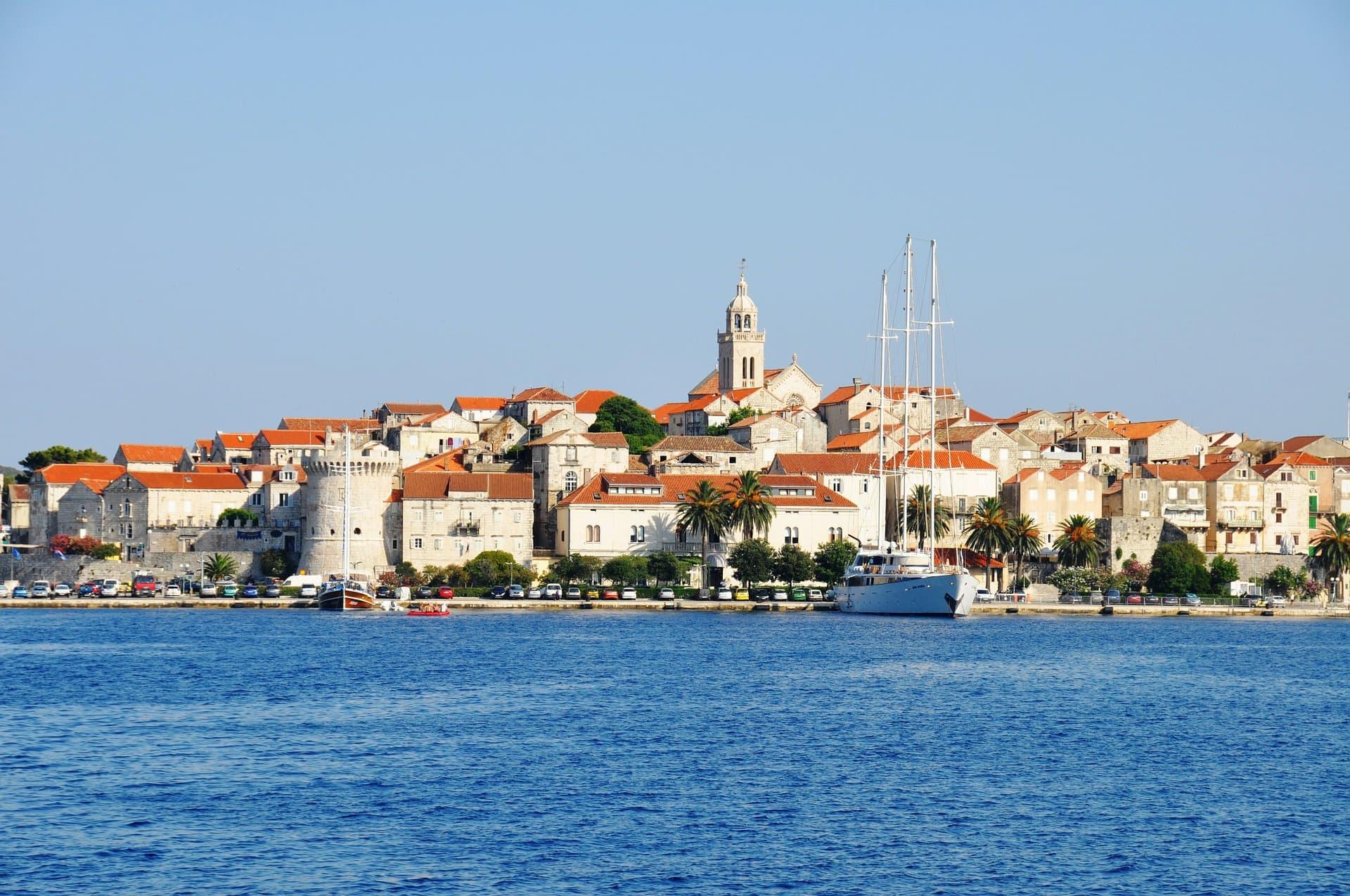 Panoramă insula Korčula