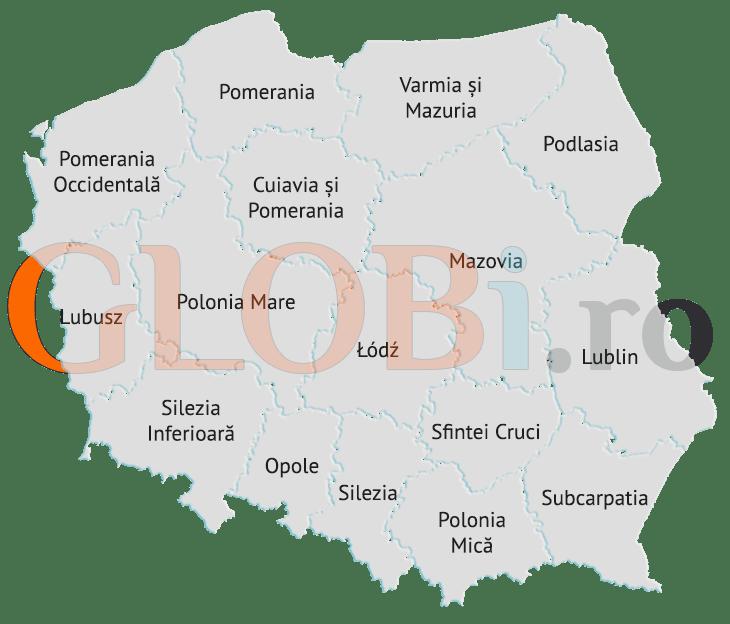 Hartă voievodate Polonia